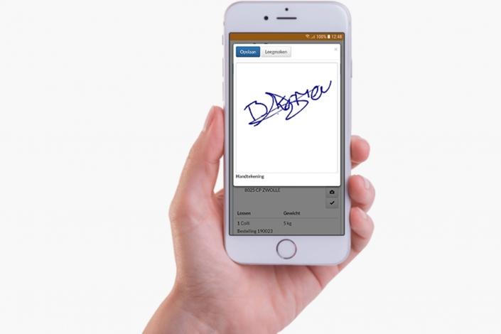 Chauffeur App – Digitaal tekenen voor ontvangst