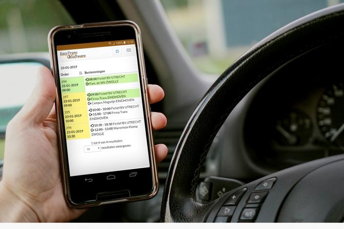 Chauffeur App - Verregaande automatisering van de transportketen