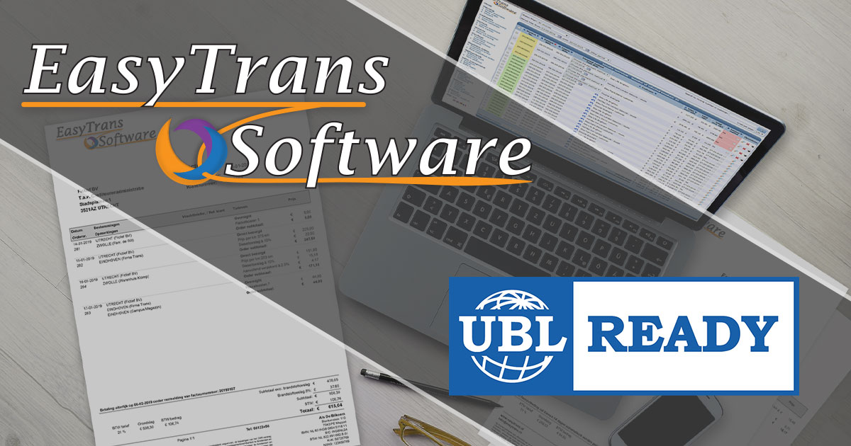 EasyTrans Software is UBL-ready