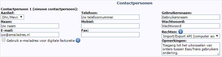Toegang geven met Import-Export API